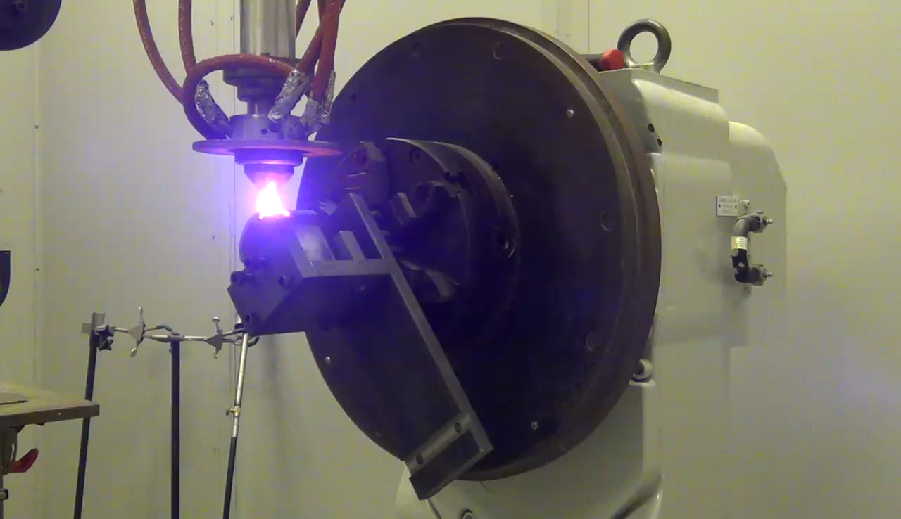 Laser cladding a host of material to increase the wear performance of components