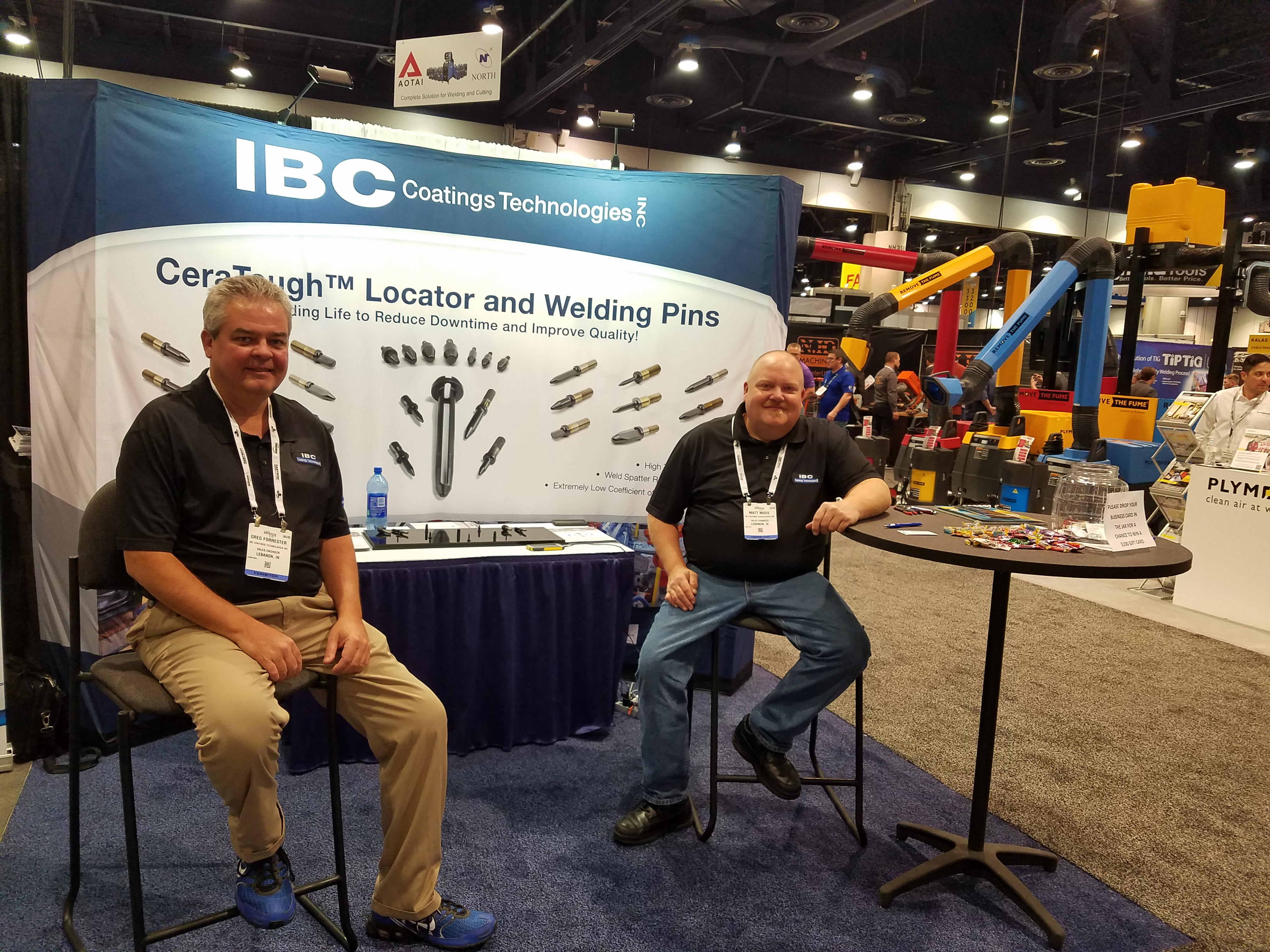IBC Coatings at FABTECH. Locator and welding pins.
